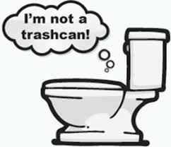 Toilet Is Not a Trash Can